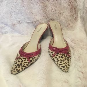 Leopard mules by Preview Iternational size 7